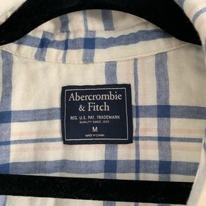Abercrombie & Fitch Tops - Plaid button down pink blue and cream color